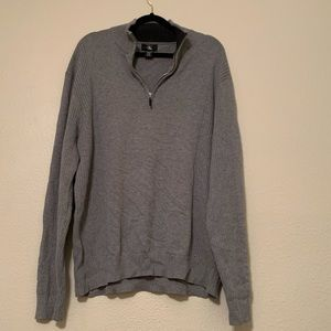 Calvin Klein Gray Knit Pullover 1/4 Zip Sweater